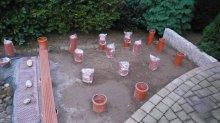 Holzdeck Steg Unterkonstruktion Hobby Gartenteich